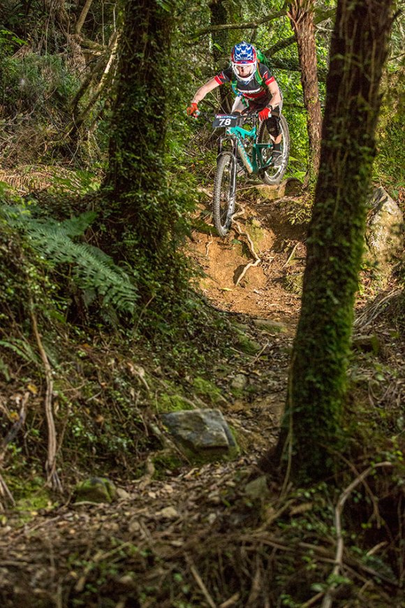 Anja McDonald took out all four stages on day two (Nydia Track). Photo: Caleb Smith ©