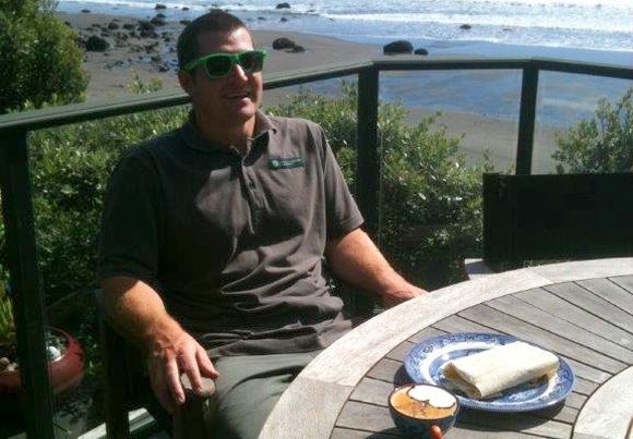 Chris Rendall at Oakura, Taranaki.
