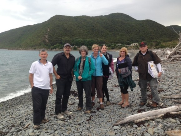 The DOC Senior leadership team on Kapiti Island in 2014.