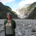 Doris Johnston at Fox Glacier.