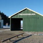 Wederburn Station buildings in winter. Photo: DOC.
