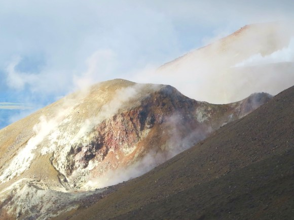 Steam coming out of the he North West crater.