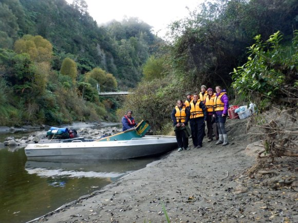 Ready to ride! Whanganui River.