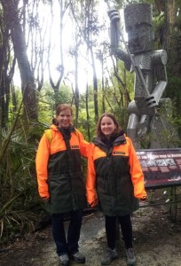 Nina Mercer and Chloe Barnes on the Te Apiti Manawatu Gorge walk.