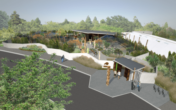 Artists impression of new Wildbase facility to be build on Victoria Esplanade in Palmerston North.