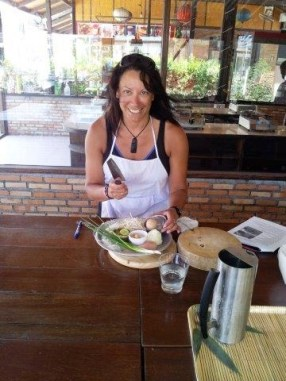 Learning to cook Thai food in Kho Phangnan.