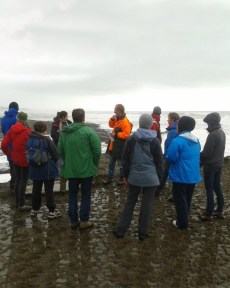 The Marine Ecosystems Team at Punakaiki. Photo: L. Wakelin, DOC.