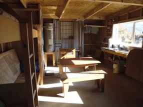 Kaipo Hut's refurbished interior.