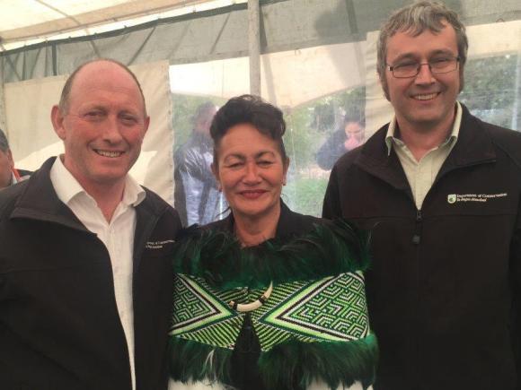 Partnerships LNI Reg Kemper, Chief Negotiator for Heretaunga Tamatea iwi Liz Munroe, Conservation Services Manager (Napier) Dave Carlton.