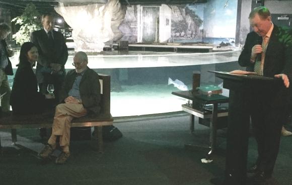 Bill at the Kermadec Ocean Sanctuary announcement in October.