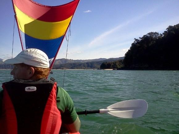 Bruce kayaking in Abel Tasman National Park.