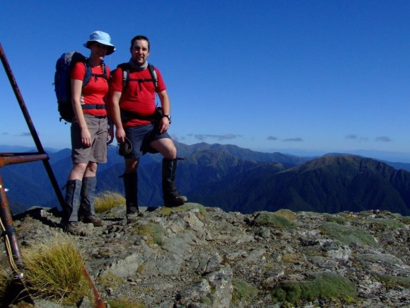 Don Herron and partner on Mount Holdsworth.