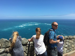Meeting point of the Tasman Sea and Pacific Ocean.