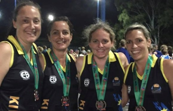 Natasha and her team winning the silver medal at the 2015 Masters Games in Brisbane.