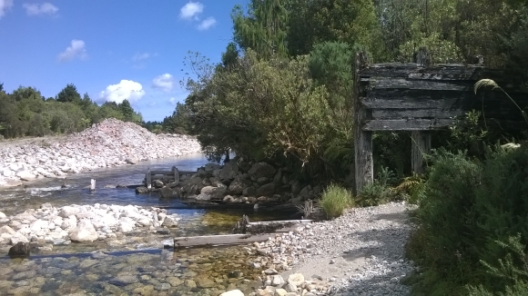 The old mining remains on the Styx river.