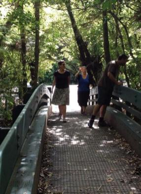 Visiting Tane Mahuta in Waipoua Forest.