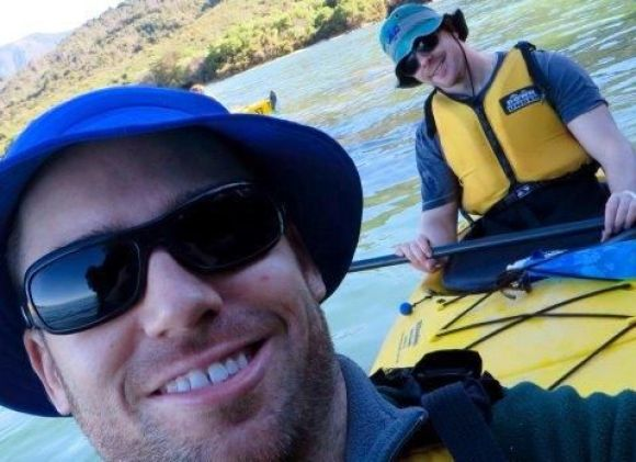 Paul McGee kayaking in Abel Tasman.