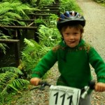 Biking around Lake Kaniere water race,