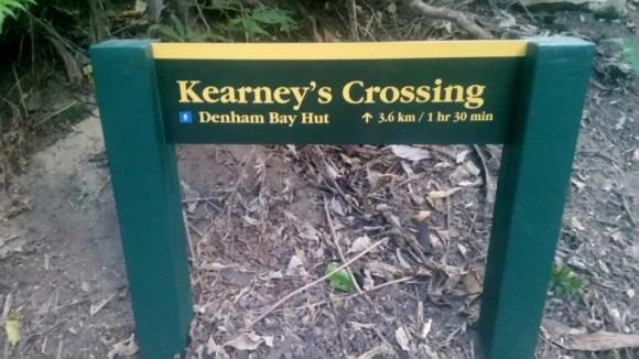 Kearney's Crossing sign.