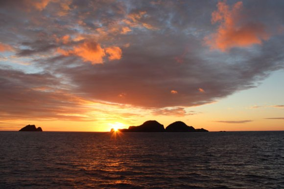 Sunrise over Meyer Islands. Photo: Sarah Wilcox