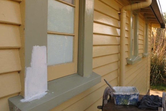 Paint the window frames on the Visitor Centre.