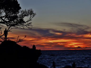 Sunset at Fantail Bay. Photo: Frederick Church.