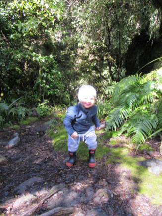 Corban's first jumps in Egmont National Park.
