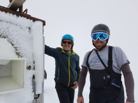 Paul Carr and Harry Keys at Whakapapa.