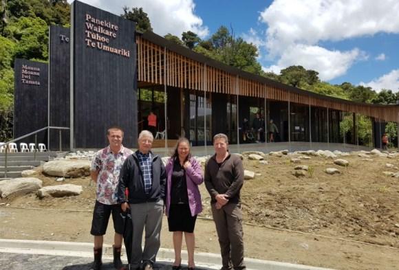 Will Bamford (DOC), Herwi Scheltus (DOC), Mei Hardy-Birch (DOC) and Hugh Tennant (architect).