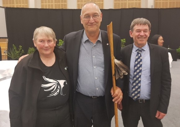 Sandra Cook, Mark Solomon, and Mike Slater.