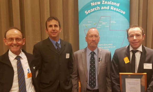 From to right. Dave Dittmer - Senior Ranger Recreation/Search and Rescue Aoraki/Mount Cook, Troy Feck - Senior Search and Rescue Pilot The Helicopter Line, Ray Bellringer - Community Ranger Aoraki/Mount Cook, Andy Tindall - Senior Team Leader Search and Rescue Aoraki/Mount Cook.