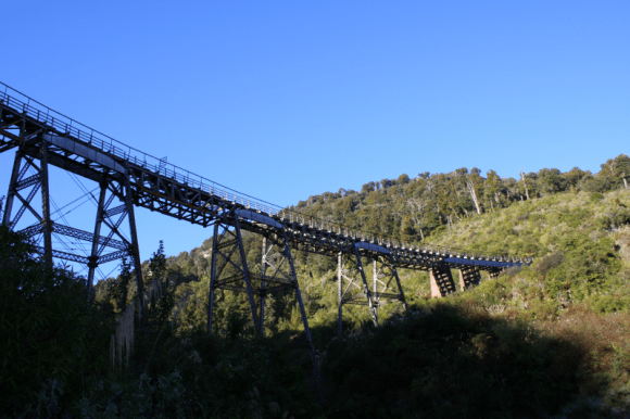 The historic Hapuawhenua Viaduct.