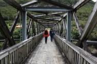 Crossing the Brunner mine bridge..