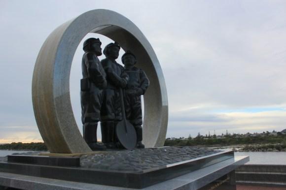 West Coast coal mining incidents memorial.