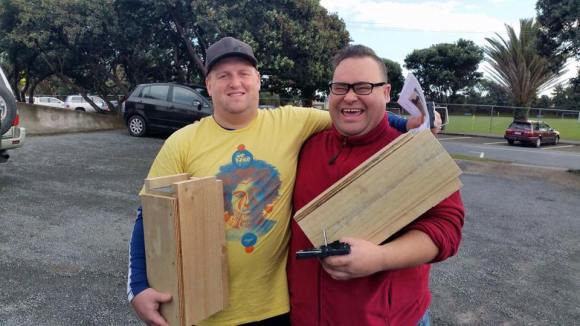 Locals collect their traps at the Predator Free Titahi Bay launch last month.
