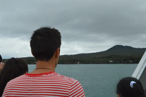 Arriving at Rangitoto Island.