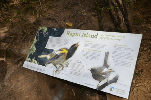 New interpretation panels on Kapiti Island.