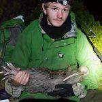 Ranger Stef holding Smee.