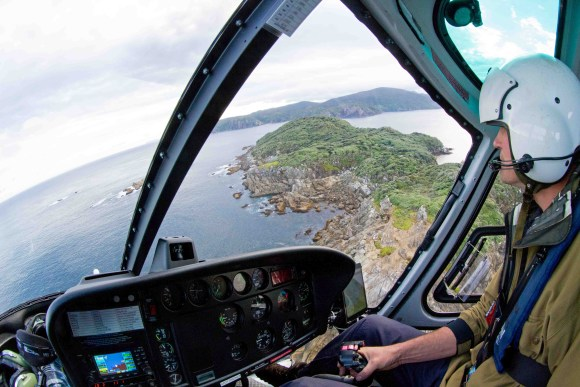Approaching Kundy Island, south west of Rakiura. Photo: Phil Melgren.