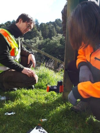 Rangers Ben and Becky demonstrating how to install a A24.