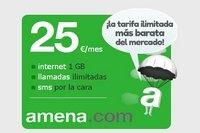 Amena rebaja su tarifa de Internet y llamadas casi ilimitadas