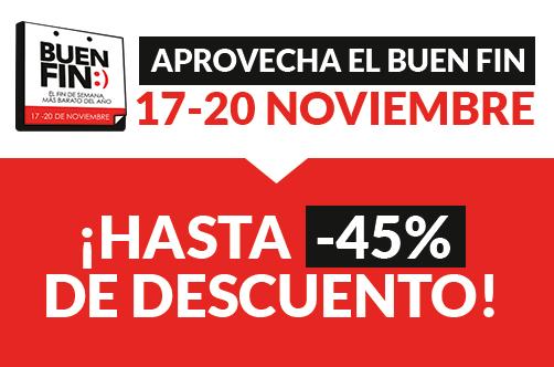 ¡Buen Fin en doctorSIM México con descuentos de hasta el 45%!