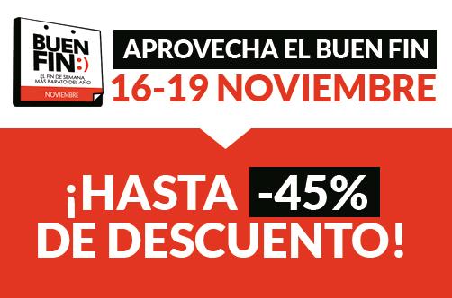 ¡Descuentos de hasta el 45% para México en el Buen Fin 2018!