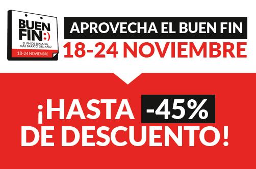 Celebramos el Buen Fin con descuentos de hasta el 45% para todo México