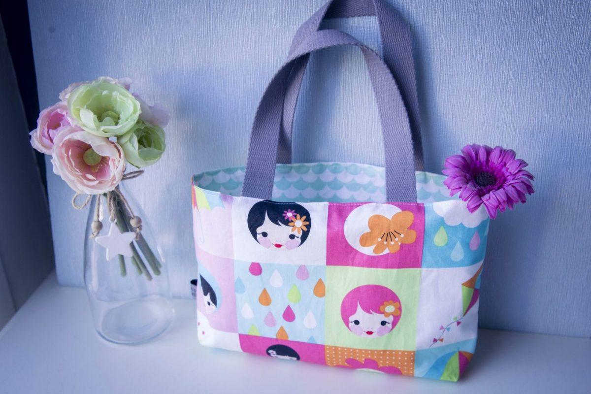Tuto couture :Le petit sac cabas fillette