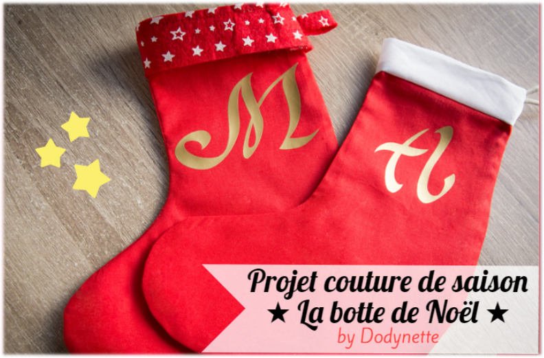Tuto couture : La botte de Noël ultra facile