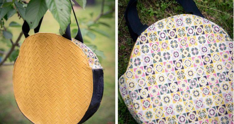 tuto couture le sac cabas rond r versible les tutos. Black Bedroom Furniture Sets. Home Design Ideas