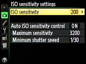 ISO-Sensitivity