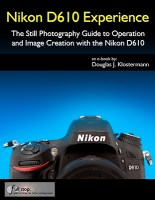 Nikon D610 book manual guide how to autofocus settings menu custom setup dummies learn use tips tricks