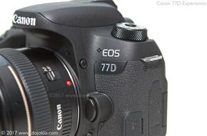 Canon 77D body controls button dials